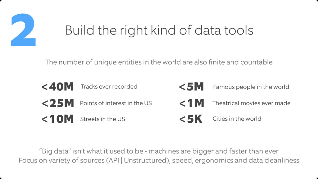Build the right kind of data tools 2 The number...