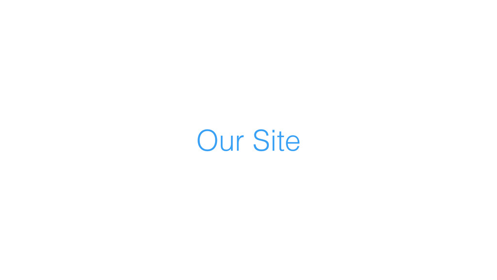 Our Site