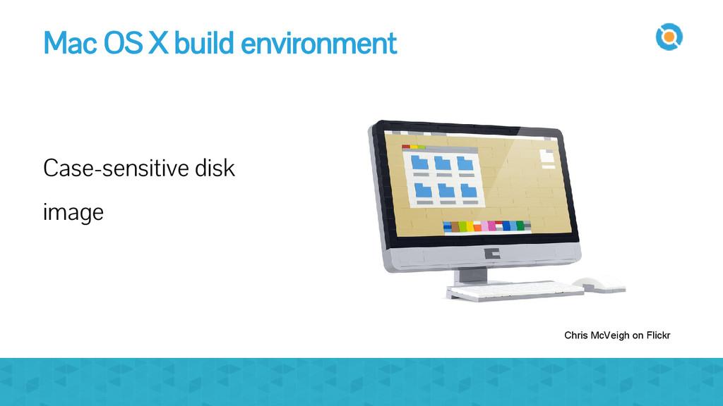 Mac OS X build environment Case-sensitive disk ...