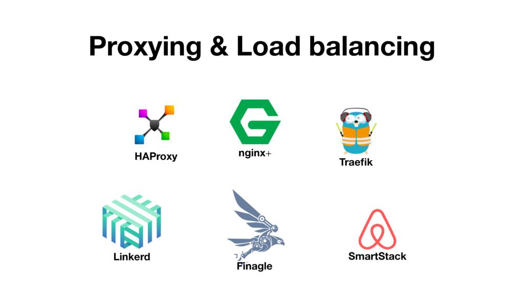 Proxying & Load balancing HAProxy nginx+ Traefik...