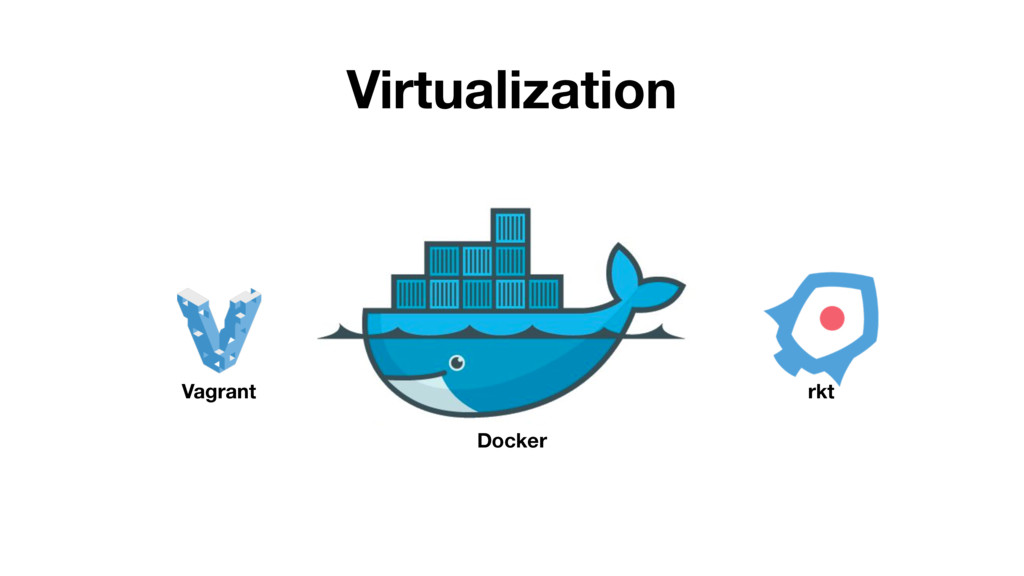 Virtualization Vagrant Docker rkt