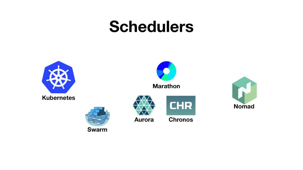 Schedulers Kubernetes Swarm Nomad Marathon Auro...