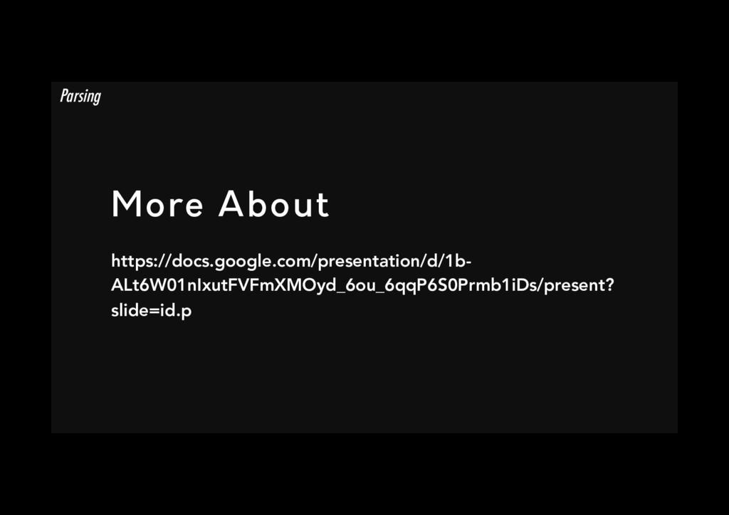More About https://docs.google.com/presentatio...