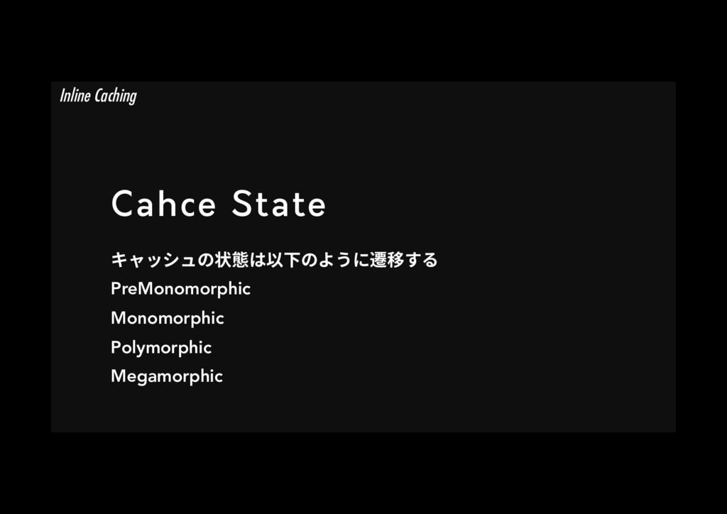 Cahce State ٍؗحءُך朐䡾כ⟃♴ך״ֲח鼂獳ׅ PreMonomorphic...