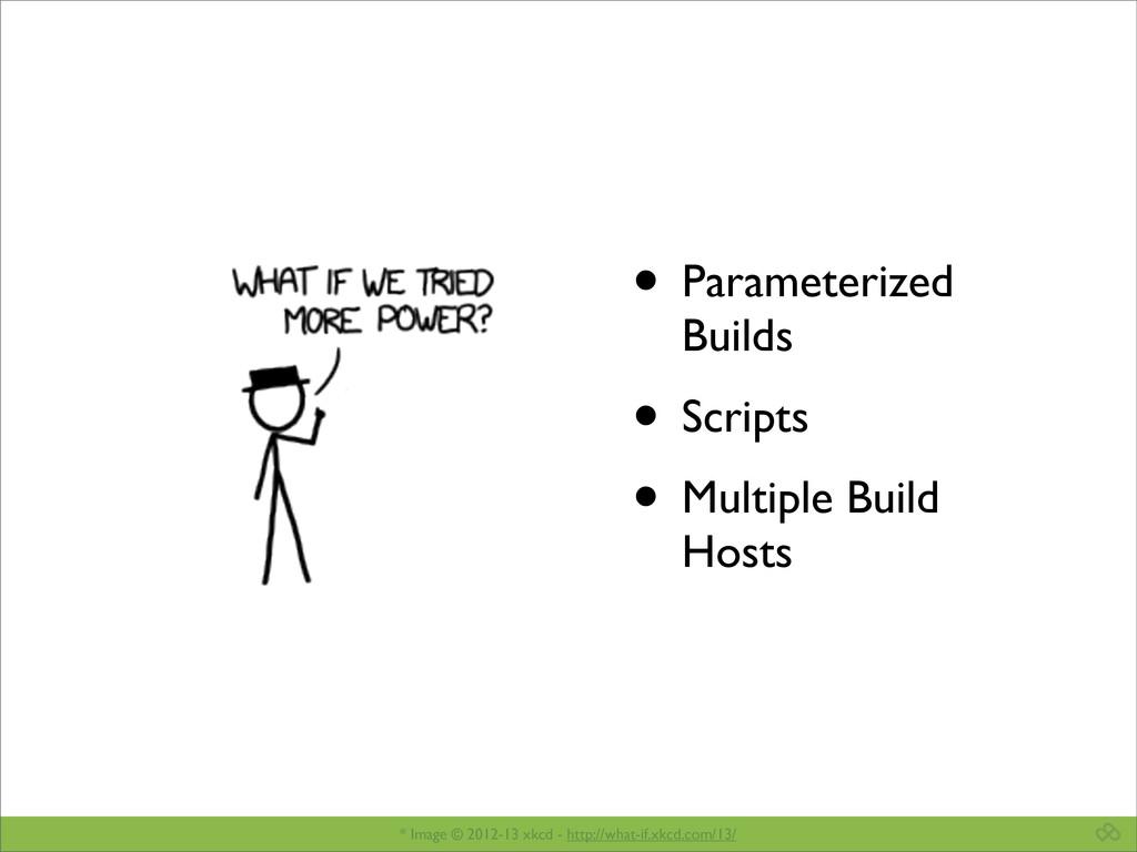 • Parameterized Builds • Scripts • Multiple Bui...