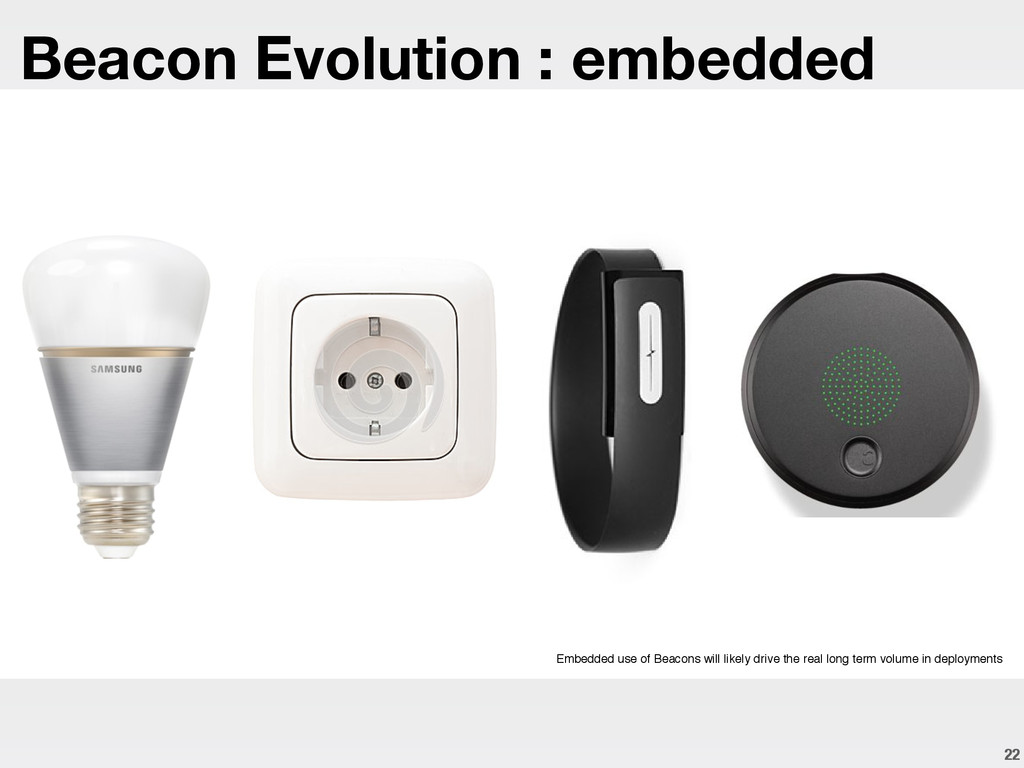 22 Embedded use of Beacons will likely drive th...