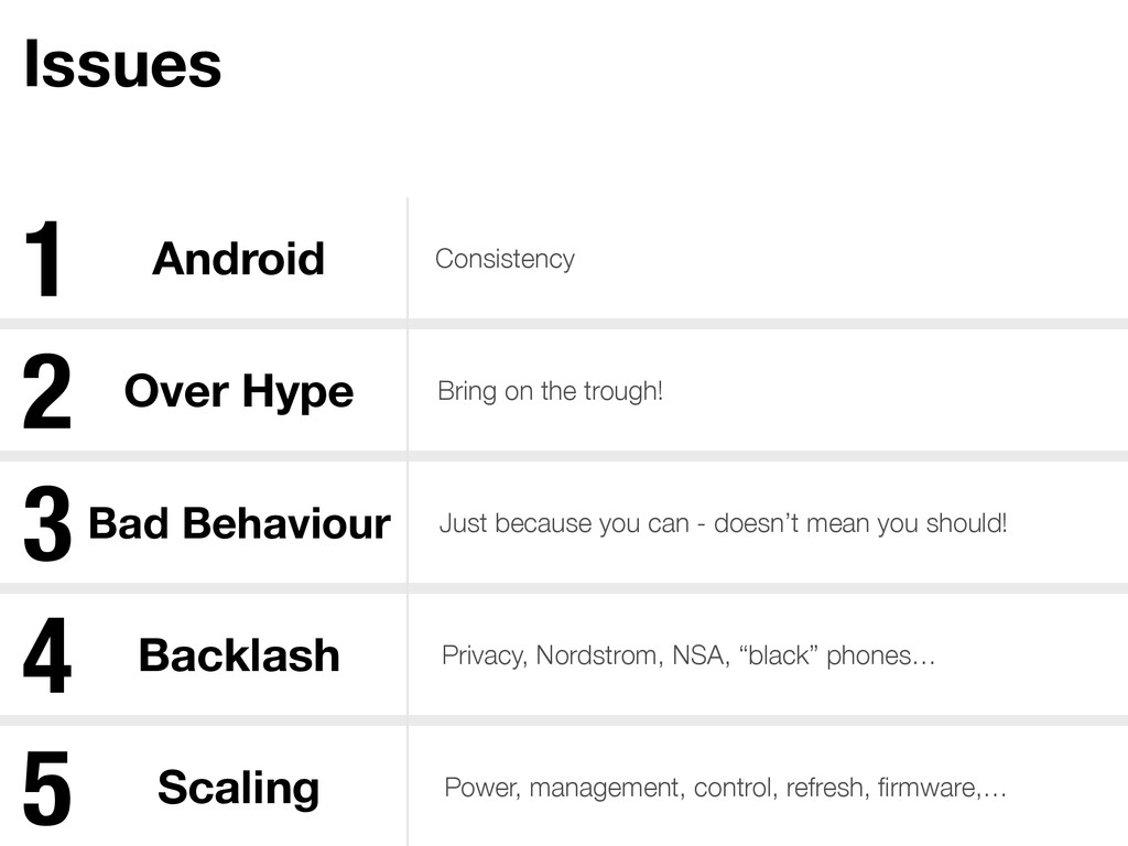 Issues Android Consistency Over Hype Bring on t...