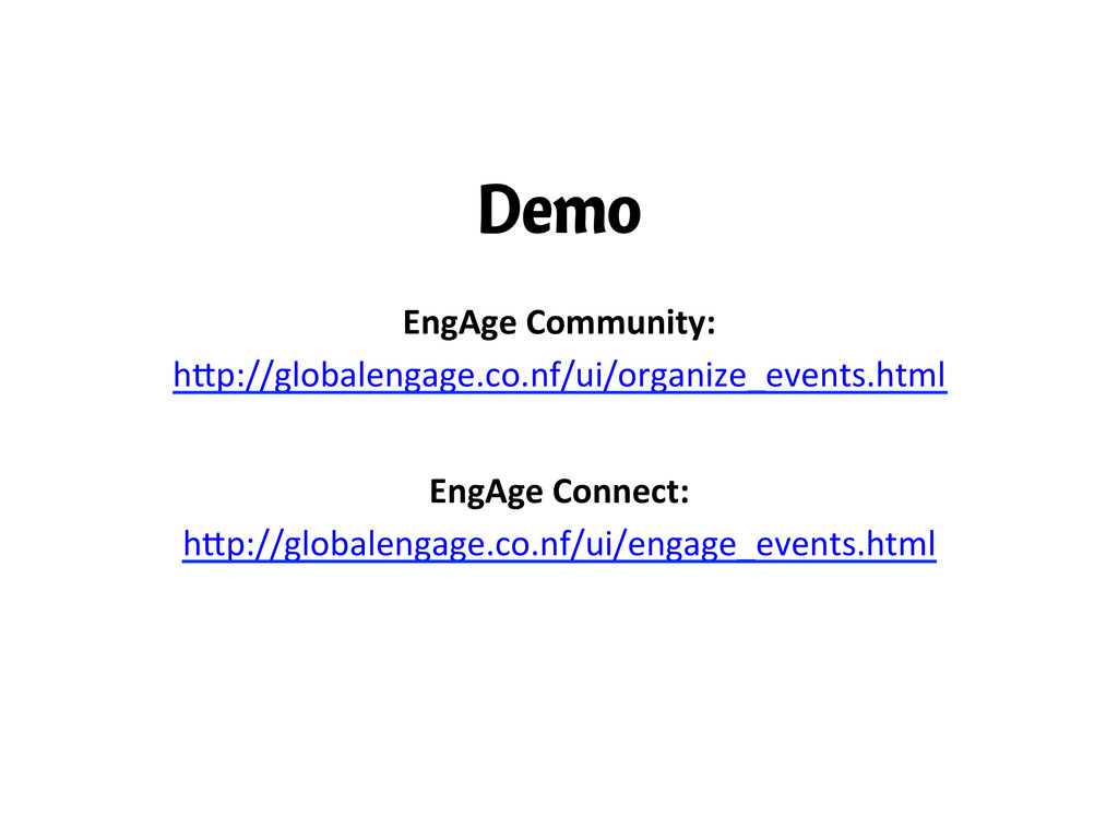 Demo EngAge	