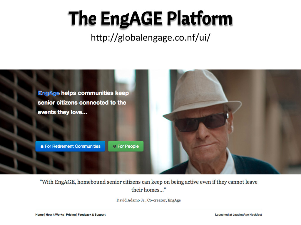The EngAGE Platform hKp://globalengage.co.nf/ui...
