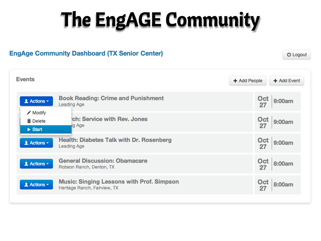 The EngAGE Community