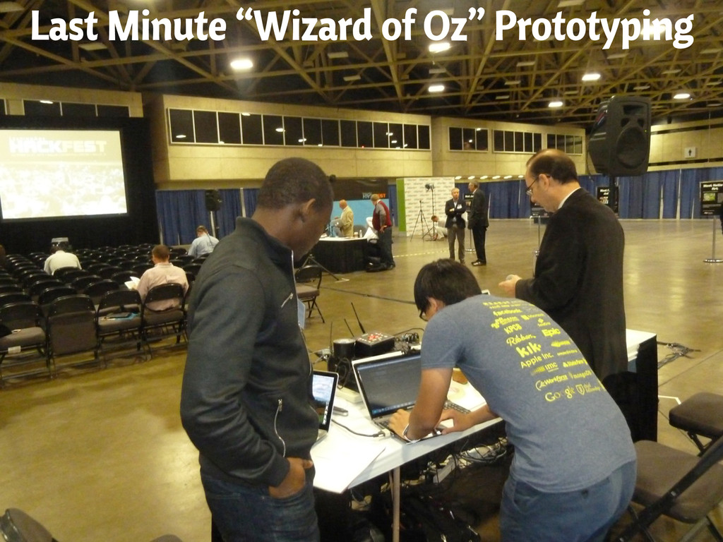 "Last Minute ""Wizard of Oz"" Prototyping"