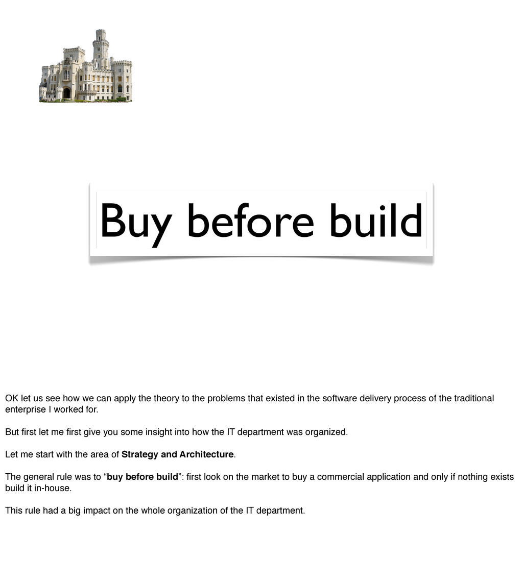 Buy before build OK let us see how we can apply...