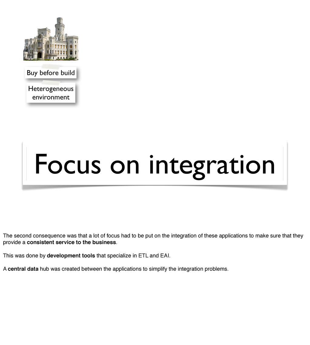 Focus on integration Buy before build Heterogen...