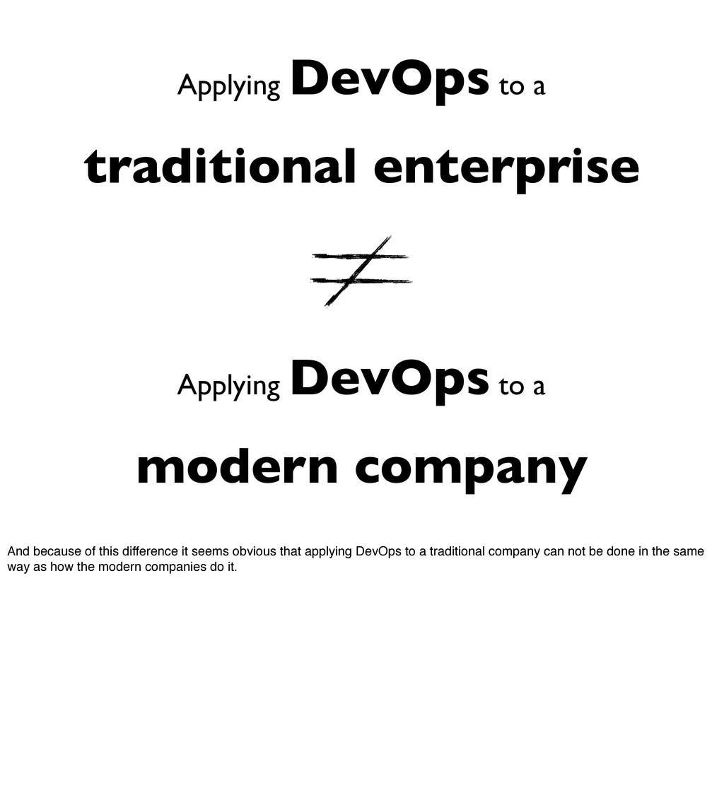 Applying DevOps to a traditional enterprise App...