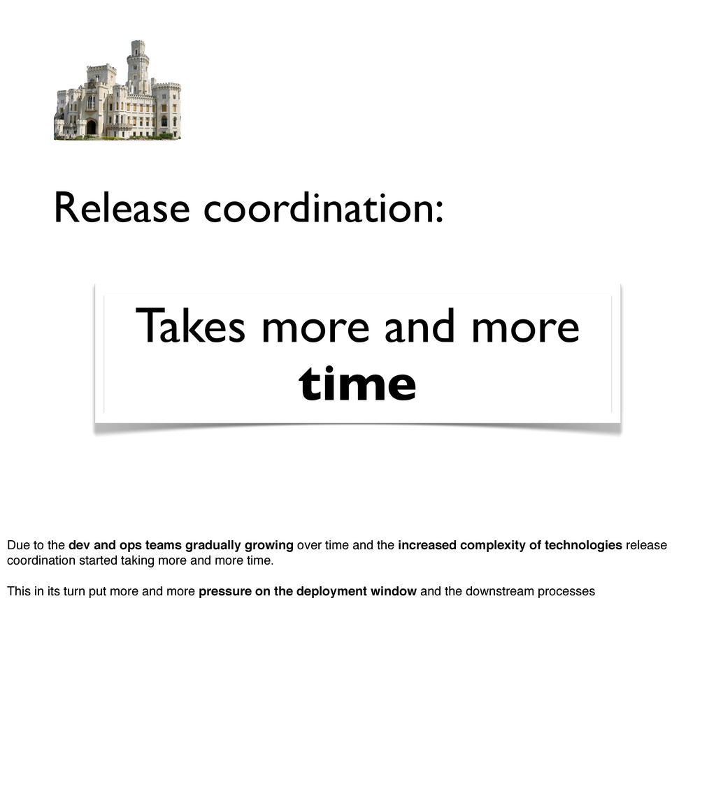 Release coordination: Takes more and more time ...