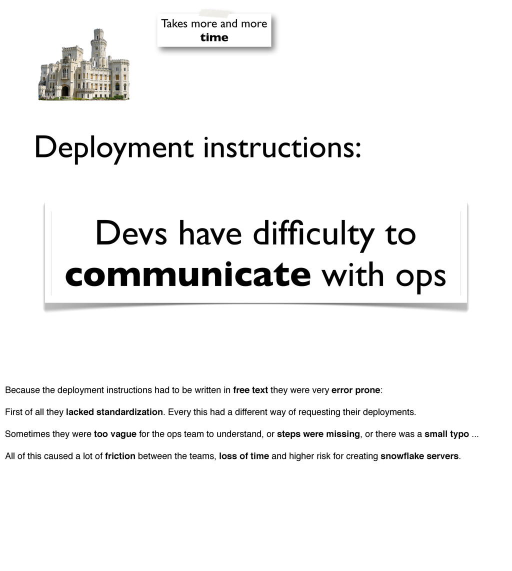 Deployment instructions: Devs have difficulty to...