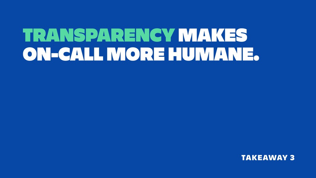 TRANSPARENCY MAKES 