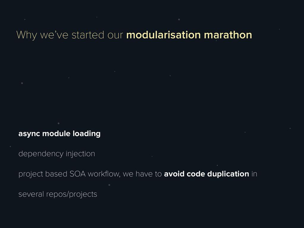 async module loading dependency injection proje...
