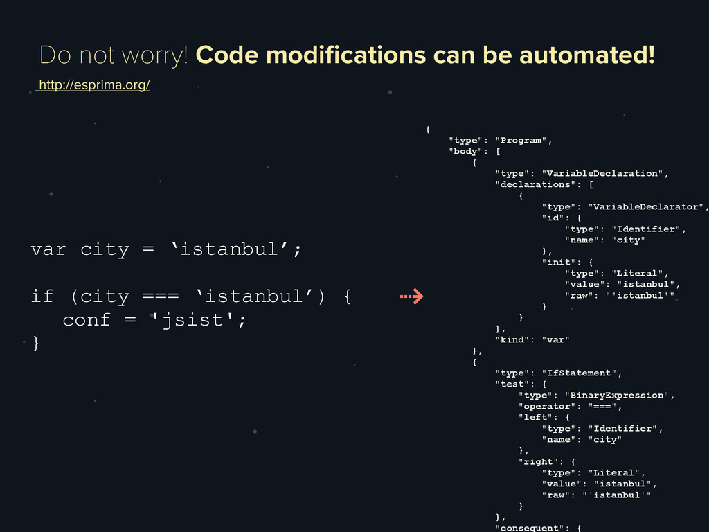 Do not worry! Code modifications can be automate...