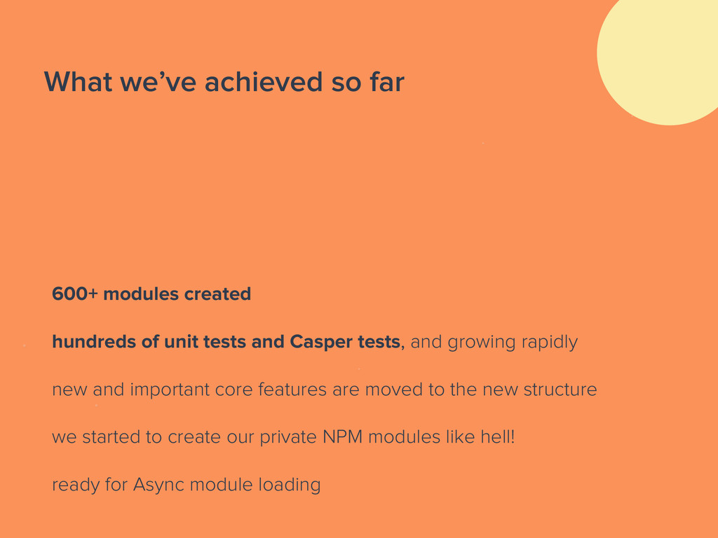 What we've achieved so far 600+ modules created...