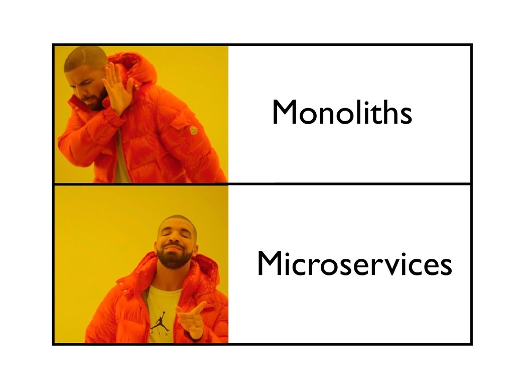 Monoliths Microservices