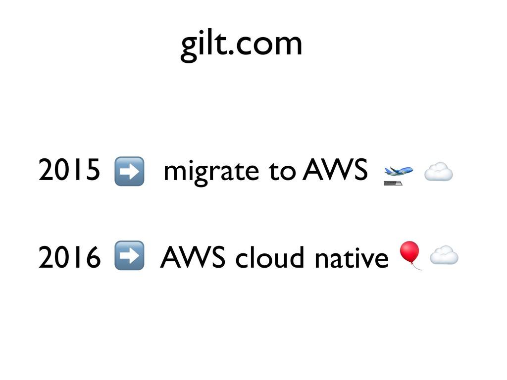 2015 migrate to AWS 2016 AWS cloud native gilt....