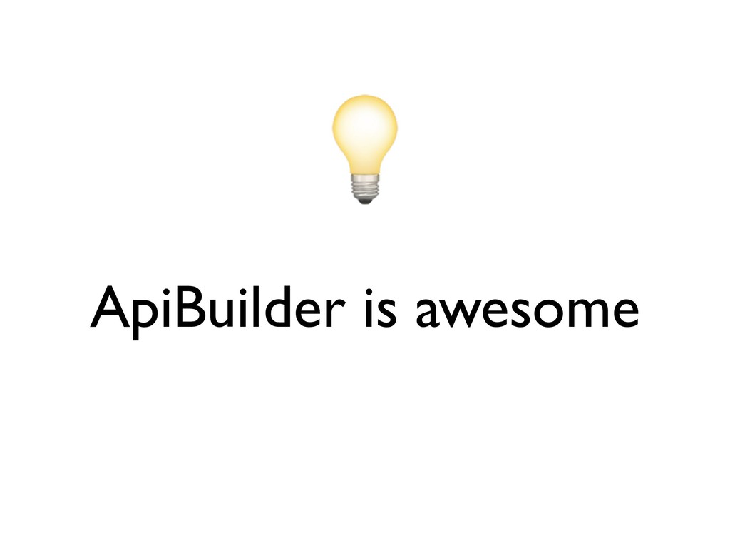 ApiBuilder is awesome