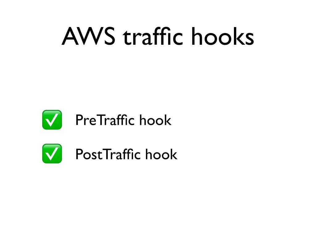 AWS traffic hooks • PreTraffic hook • PostTraffic ...