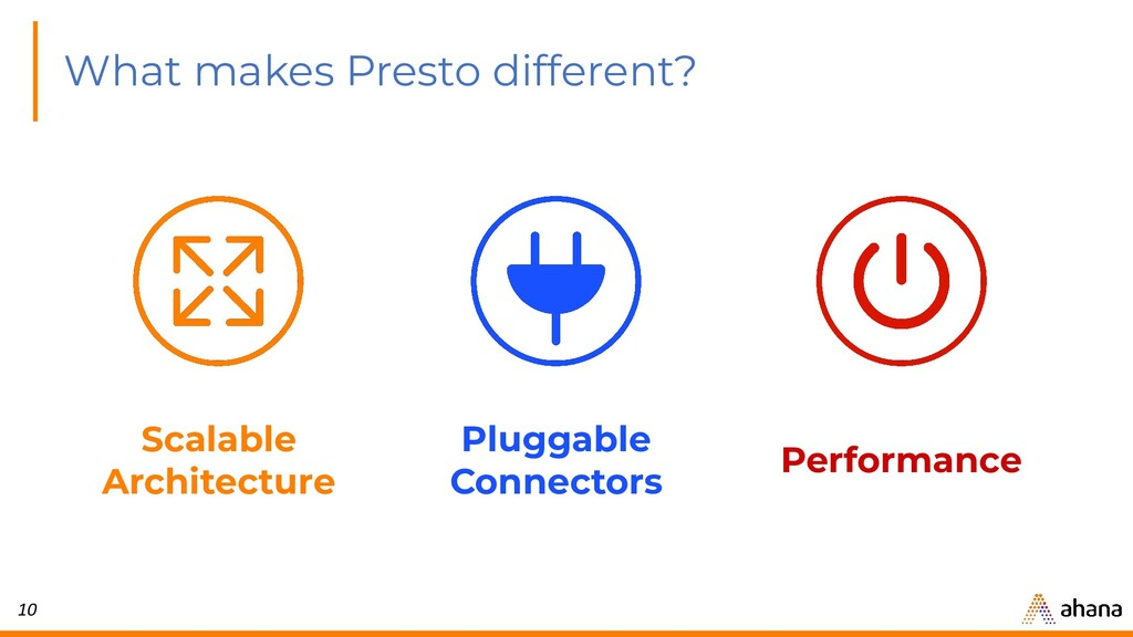 10 What makes Presto different? Scalable Archit...