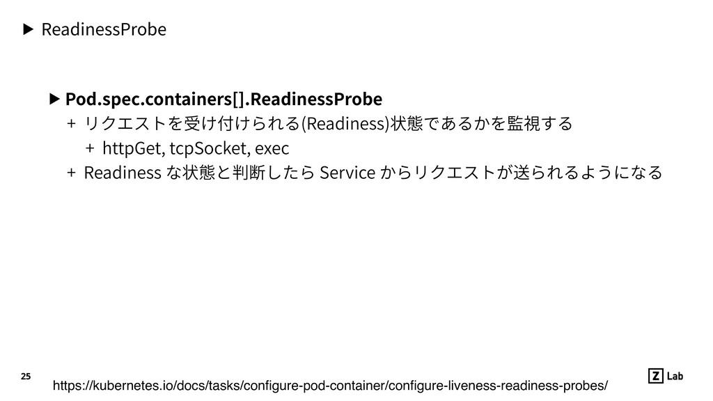 ▶ ReadinessProbe ▶ Pod.spec.containers[].Readin...