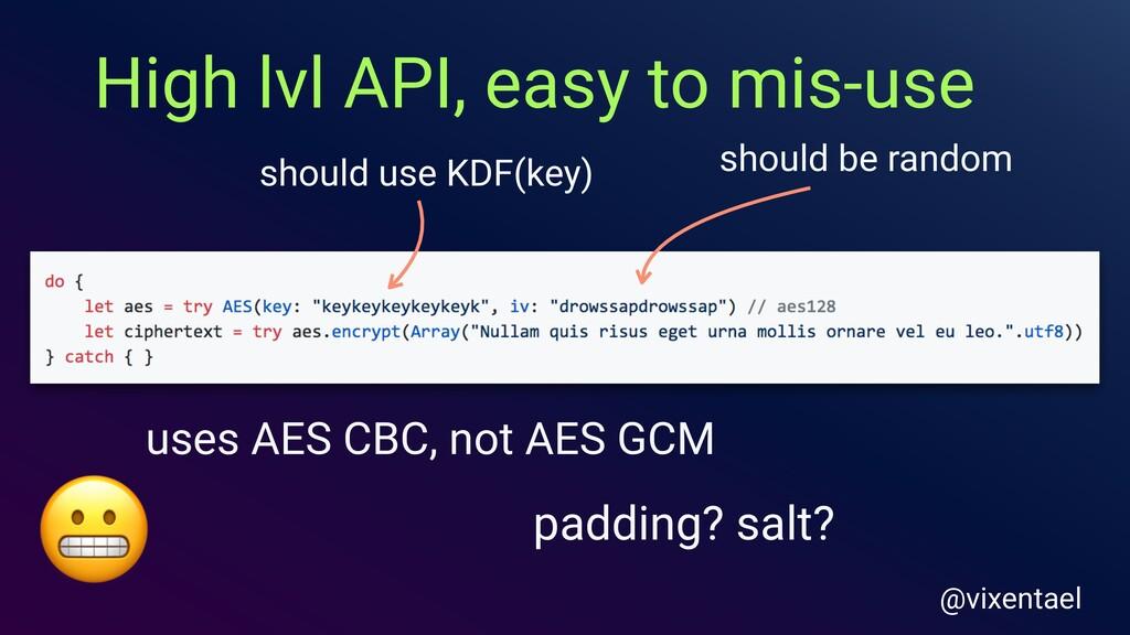 should be random should use KDF(key) uses AES C...