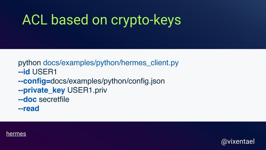 ACL based on crypto-keys @vixentael hermes pyth...