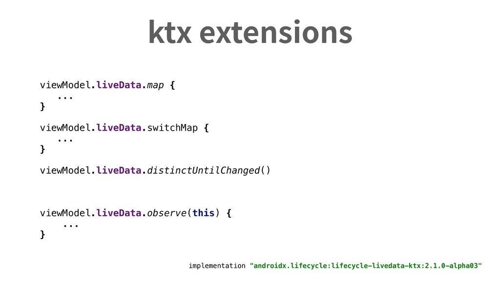 "ktx extensions implementation ""androidx.lifecyc..."