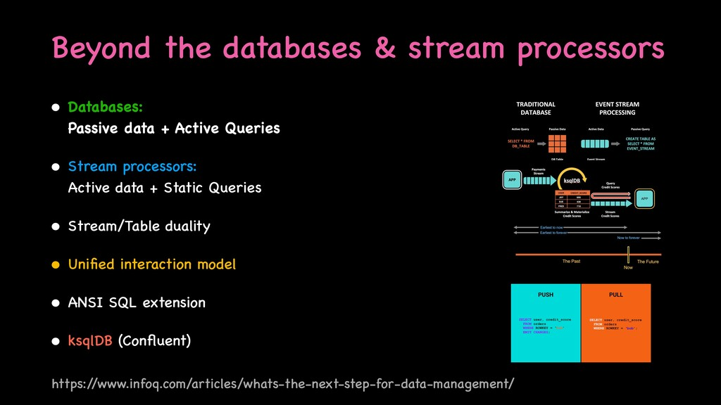 Beyond the databases & stream processors • Data...