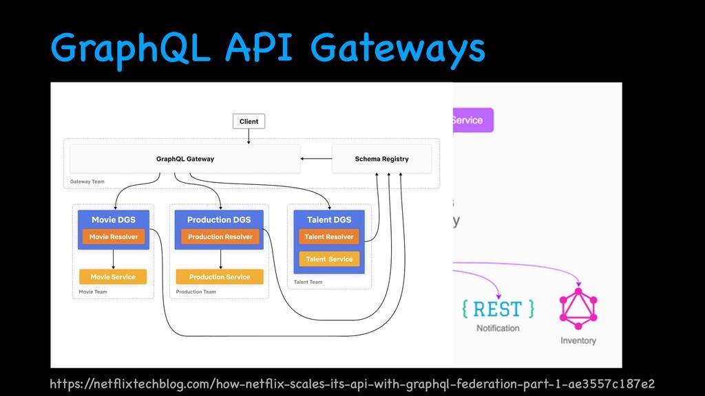 GraphQL API Gateways https:/ /net fl ixtechblog...