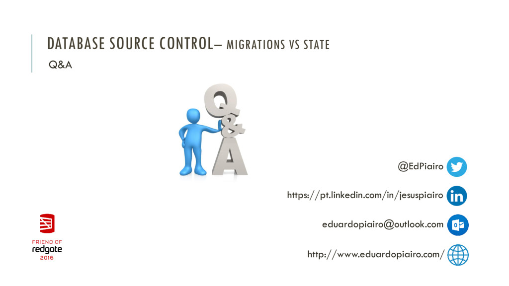 DATABASE SOURCE CONTROL– MIGRATIONS VS STATE Q&...