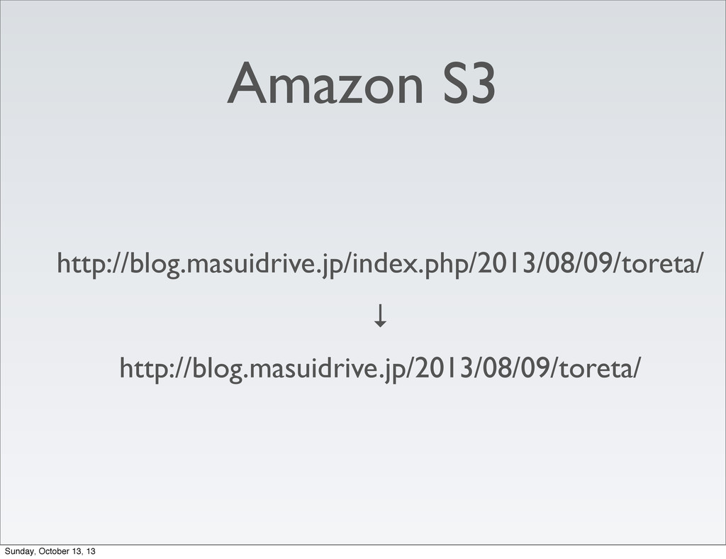Amazon S3 http://blog.masuidrive.jp/index.php/2...