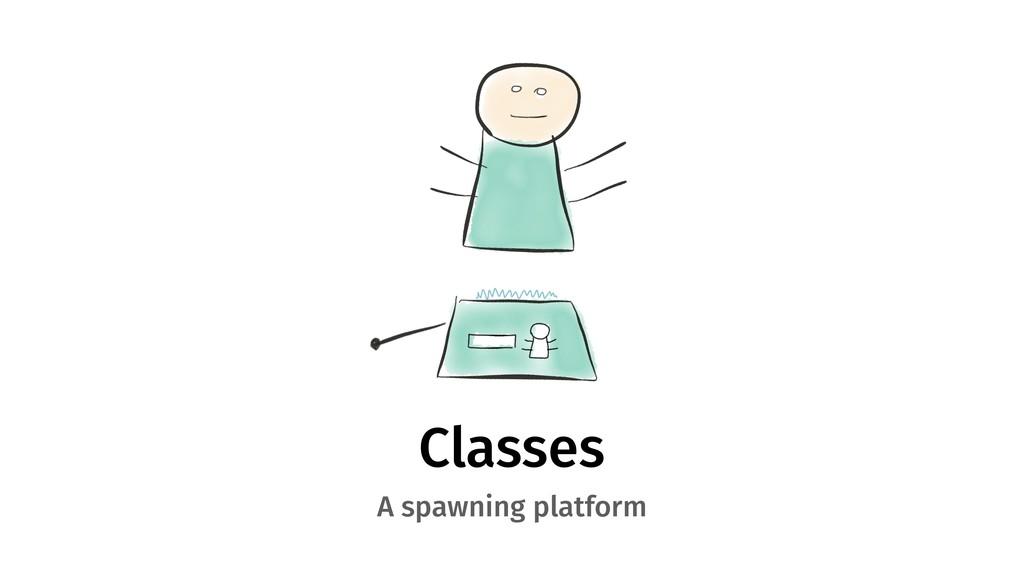 Classes A spawning platform