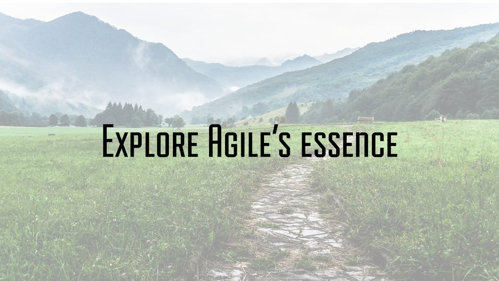 Explore Agile's essence