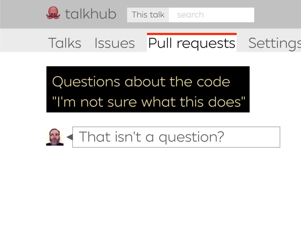 S  talkhub Talks Issues Pull requests Settings ...