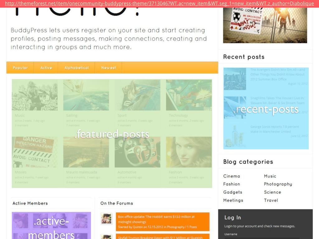 .featured-posts .recent-posts .active- members ...