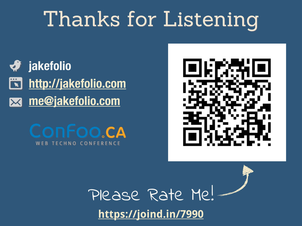 Thanks for Listening jakefolio http://jakefolio...