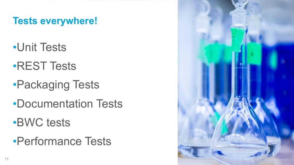 !11 •Unit Tests •REST Tests •Packaging Tests •D...