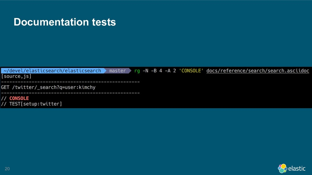 !20 Documentation tests