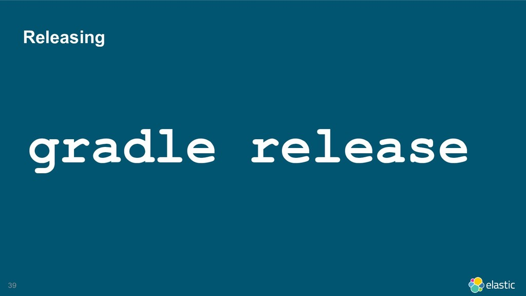 !39 Releasing gradle release