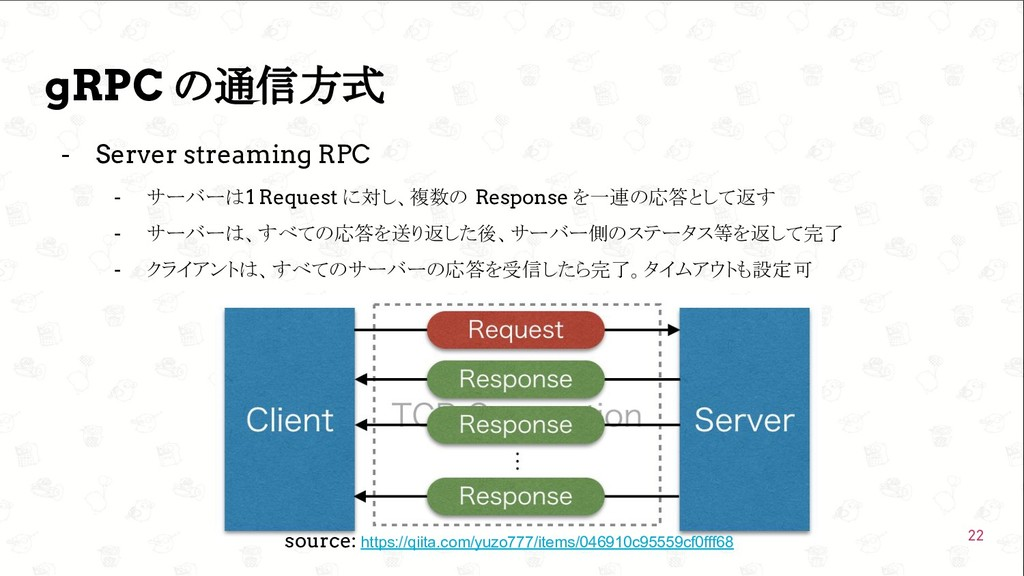 GoConference'19  gRPC の通信方式 - Server streaming...