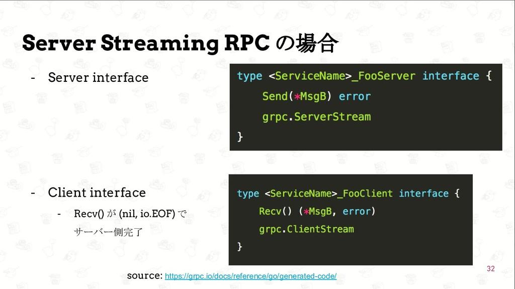 GoConference'19  Server Streaming RPC の場合 - Se...