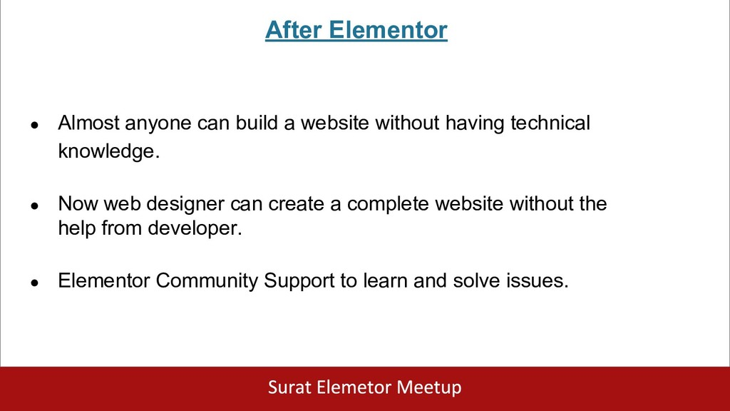 After Elementor ● Almost anyone can build a web...