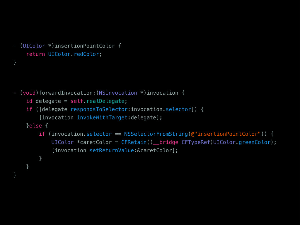 - (UIColor *)insertionPointColor { return UICol...