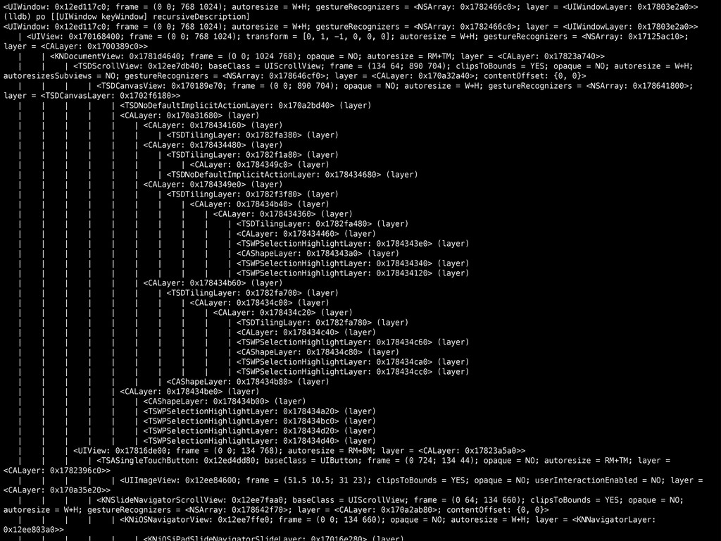 <UIWindow: 0x12ed117c0; frame = (0 0; 768 1024)...